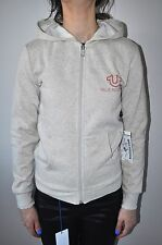 NEW TRUE RELIGION OATMEAL ROLLIN PREMIUM CASUAL HOODIE FOR WOMEN`S NWT