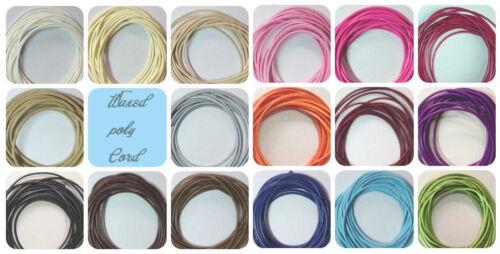 0.5 mm 10 Yards-Korea Polyester// Poly Waxed Cord// Thread DIY Organza Necklace