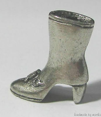 chocolate m&m ®  monopoly green boot metal token pewter mini game part