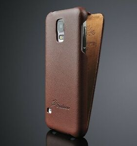 online store 1ac98 5f4c6 Details about Samsung Galaxy S5 NEO Smart Phone Genuine Leather Flip Case  Luxury Cover New Uk