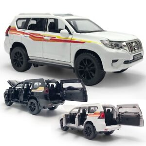 Toyota Land Cruiser SUV 1:32 Scale Model Car Diecast Gift Toy Vehicle Kids White