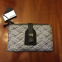 Nixon Womens Clutch Style Wallet Black Gray Rope Mitt Print Brand