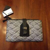 Nixon Womens Clutch Style Wallet Black Gray Rope Mitt Print Brand