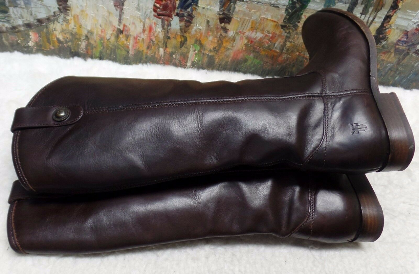 Frye 'Melissa Button' Stiefel in braun Leather - Größe Größe Größe 7B -  368 3c4723