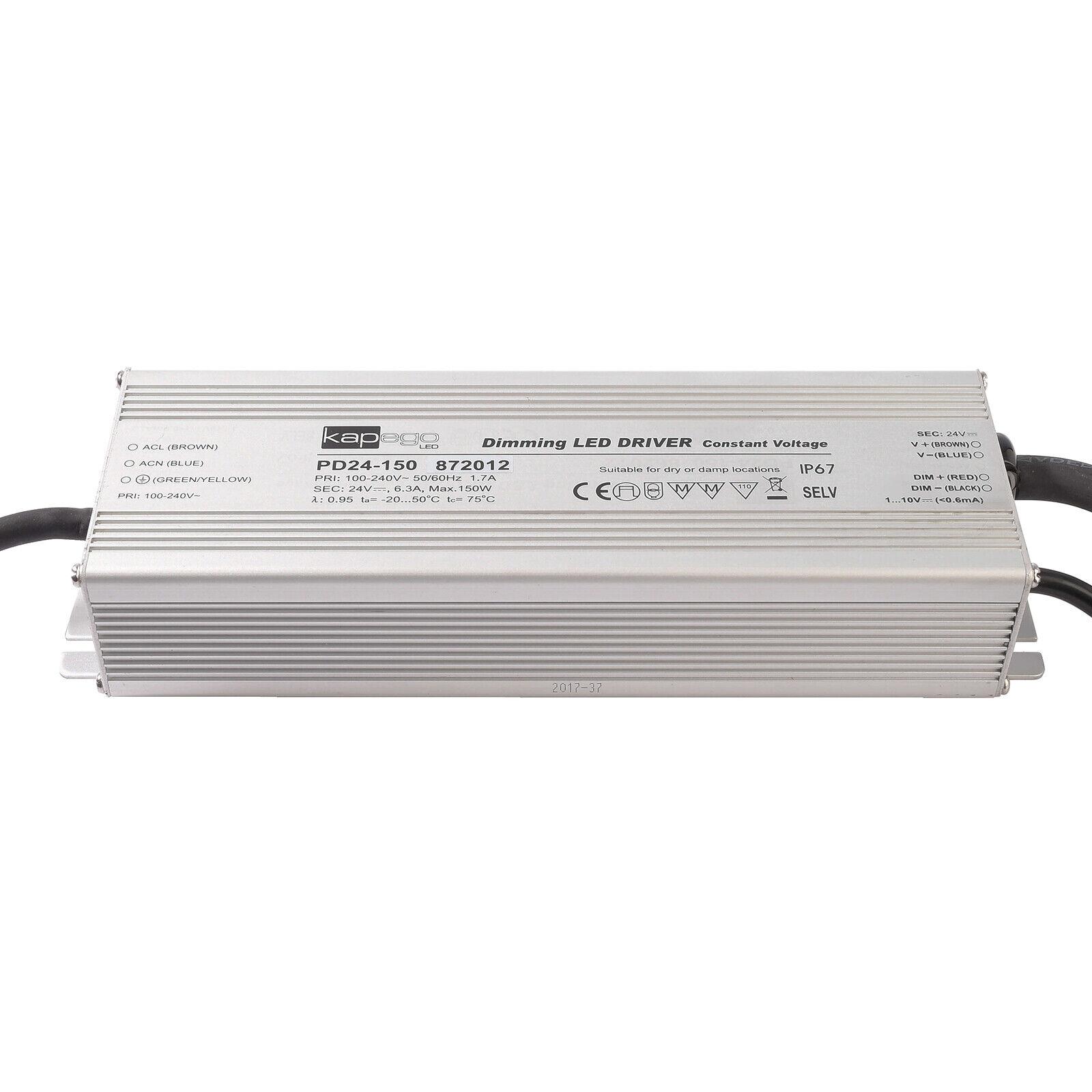 Netzteil Dimmbar 1-10V Leistung 150W 24V 6.25A Außen Lichter LED IP67