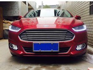 2x Led Daytime Running Light Fog Lamp Cover Drl For Ford