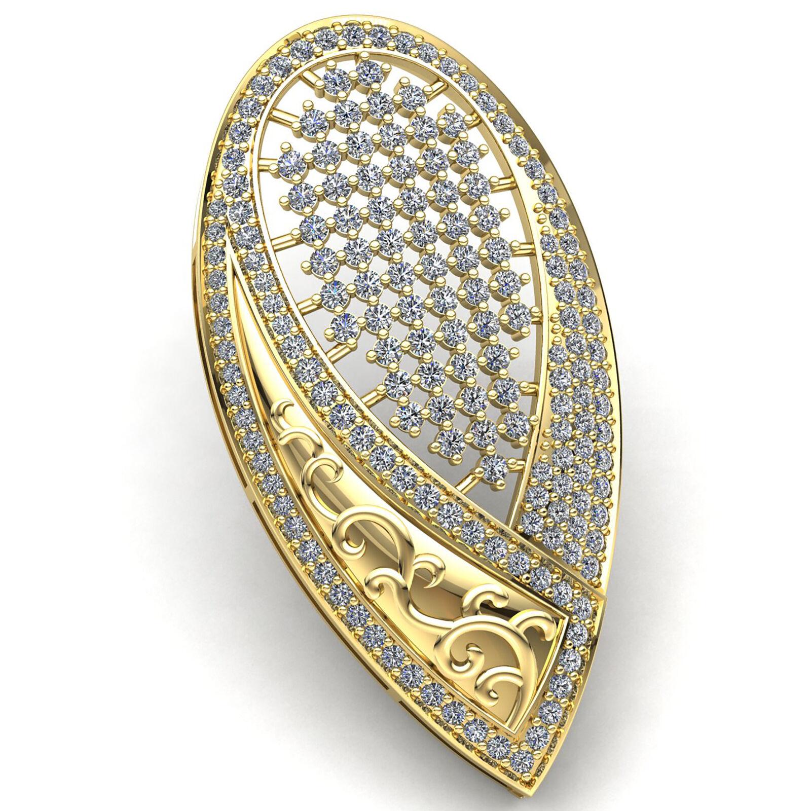 Natural 7ct Round Cut Diamond Ladies Circle of Om Religious Pendant 14K gold