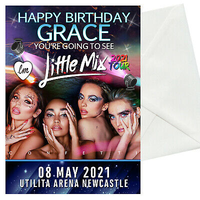 Little Mix 2021 Confetti Tour Concert Gift Ticket Show Birthday Card Christmas