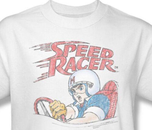 Speed Racer T-shirt retro 1980/'s Saturday Morning cartoon 100/% cotton tee SPD100