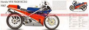 Honda Vfr 750 Rc 30 Rc30 1987 Uk Fiche Moto #009105 Jyx3yrkr-08010823-737439824