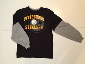 db5a9741c Image is loading Youth-NFL-Team-Apparel-Pittsburgh-Steelers-Long-sleeve-