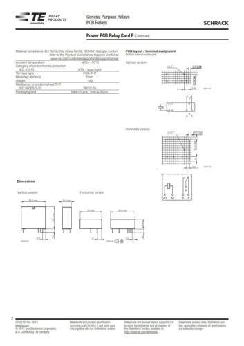 TE Connectivity v23057-b0006-a101 relais 24 V 1xum 5 a SCHRACK 7-1393215-5 860594