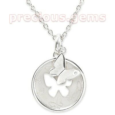 Sterling Silver Diamond Accent Butterfly Cutout Pendant ~ Was £49.99 = BARGAIN!!