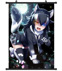 Image Is Loading B4415 Kemono Friends Grey Wolf Anime Manga Wall