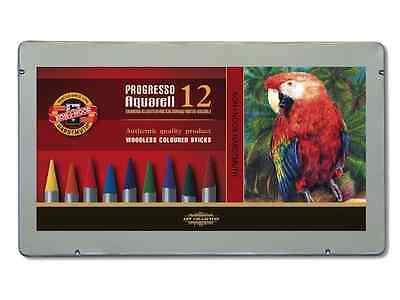 Koh-I-Noor Progresso Woodless Aquarell / Watercolour Pencils Set12