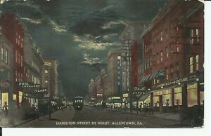 Allentown-Lehigh-Pennsylvania-Hamilton-Street-View-Trolley-Elm-NJ-1913-Postcard