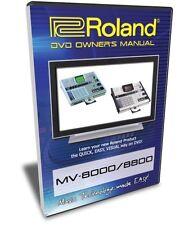 Roland MV-8000 / MV-8800 DVD Video Training Tutorial
