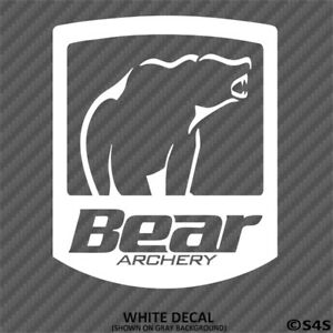 Details about Bear Archery Logo Decal Outdoors Sports & Gears - Choose Color