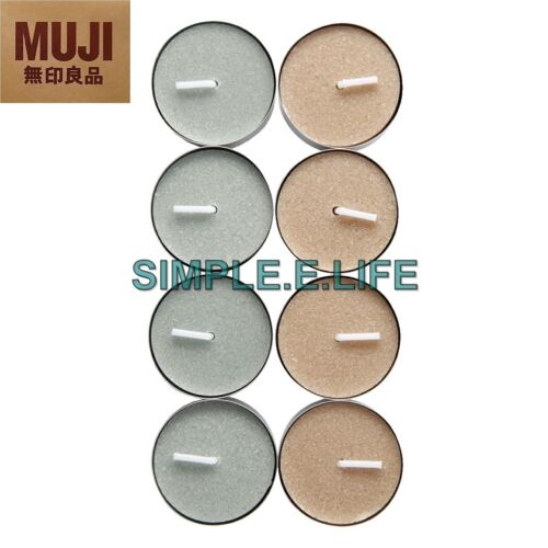 MUJI FLORAL FRAGRANT CANDLES LILY /& ROSE 8 PCS MADE IN JAPAN WITH TRACKING