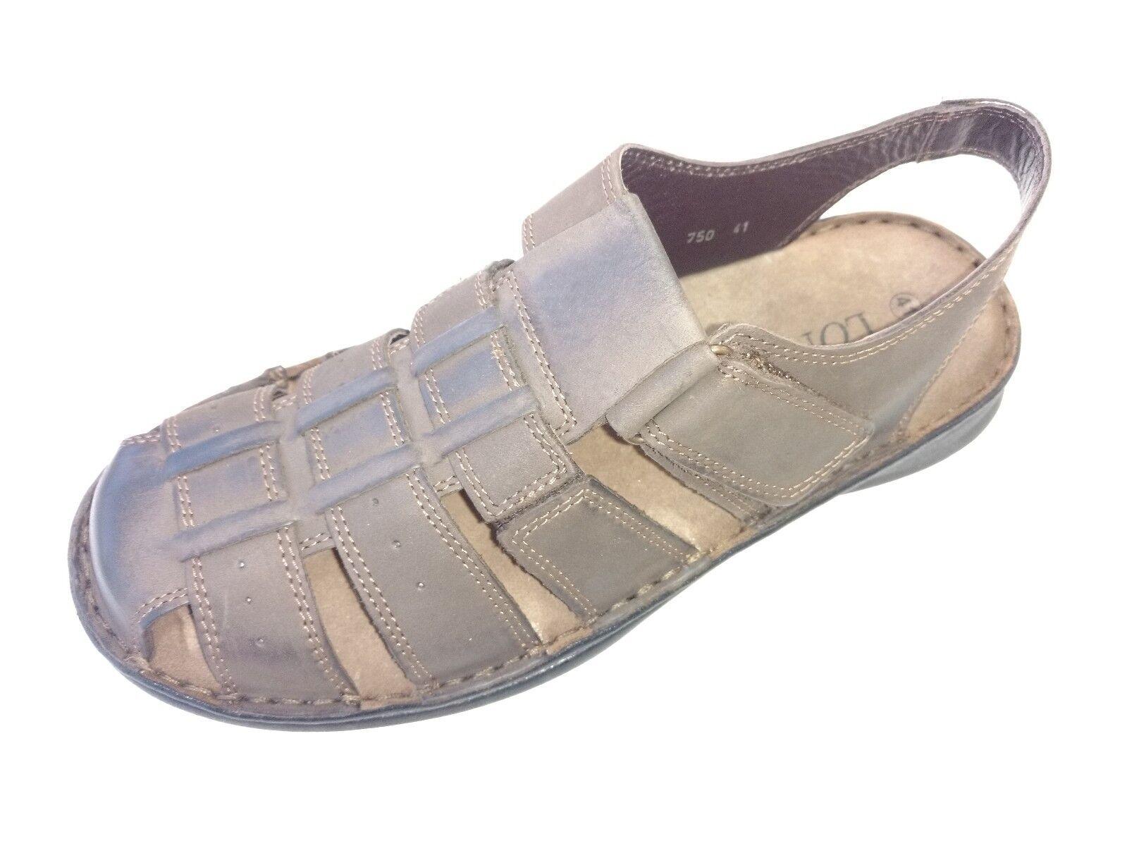 Longo Herren Schuhe Sandale Sandalette Slipper Halbschuh 1008116 3 braun braun 3 Leder e11e44