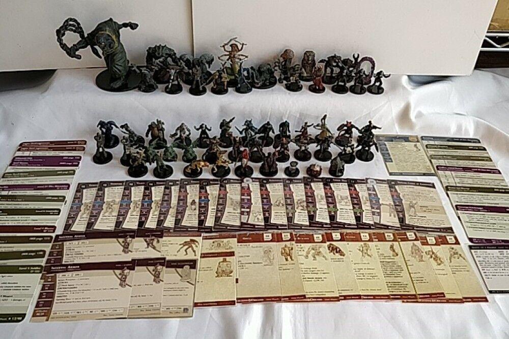 Whole sale Lote de 55 juego Calabozos y Dragones Figura miniaturas D&D - a1121 -
