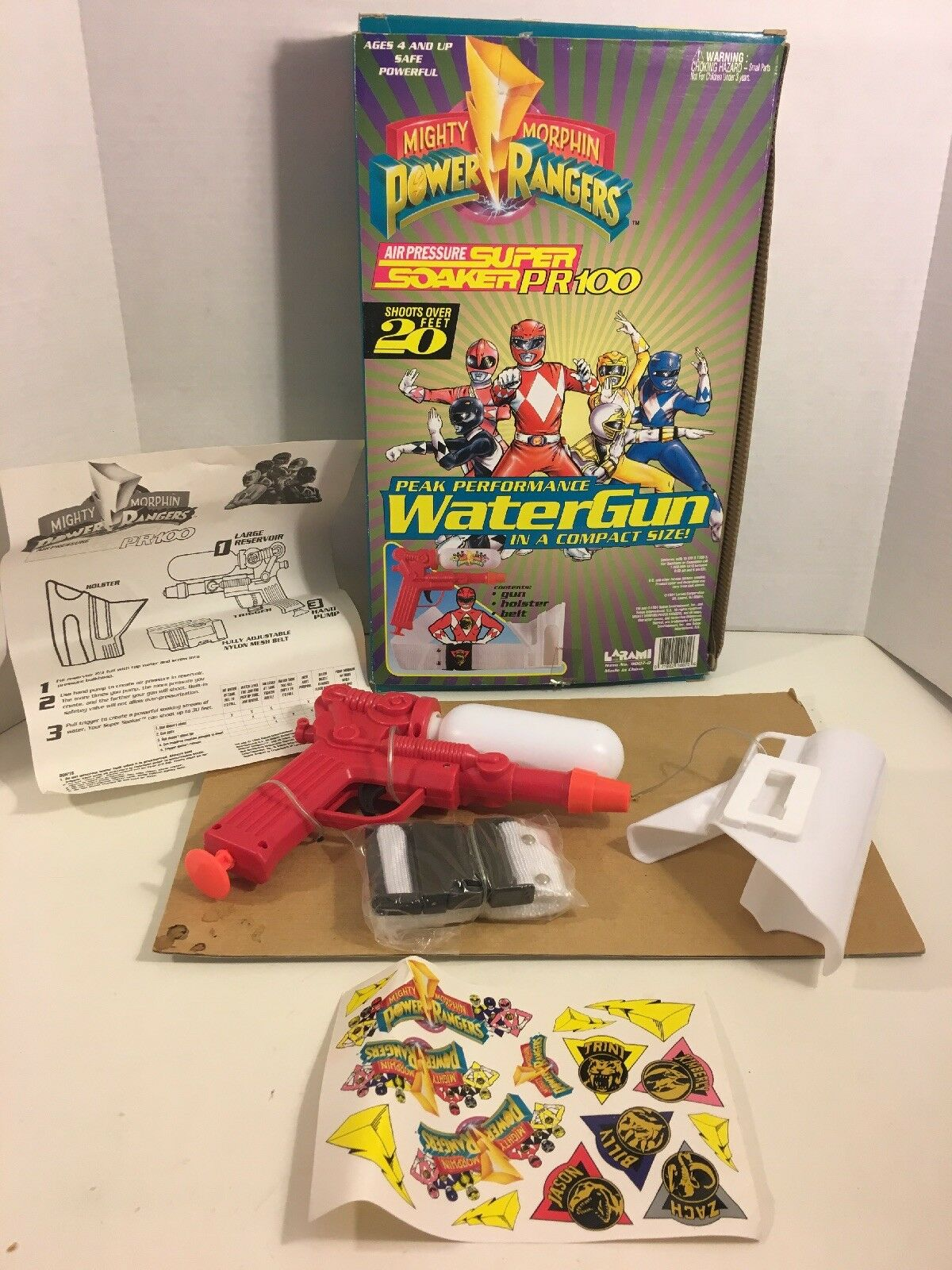 Mighty Morphin Power Rangers Super Soaker RED RANGER Larami 1994 1994 1994 Water Gun 7e8d58