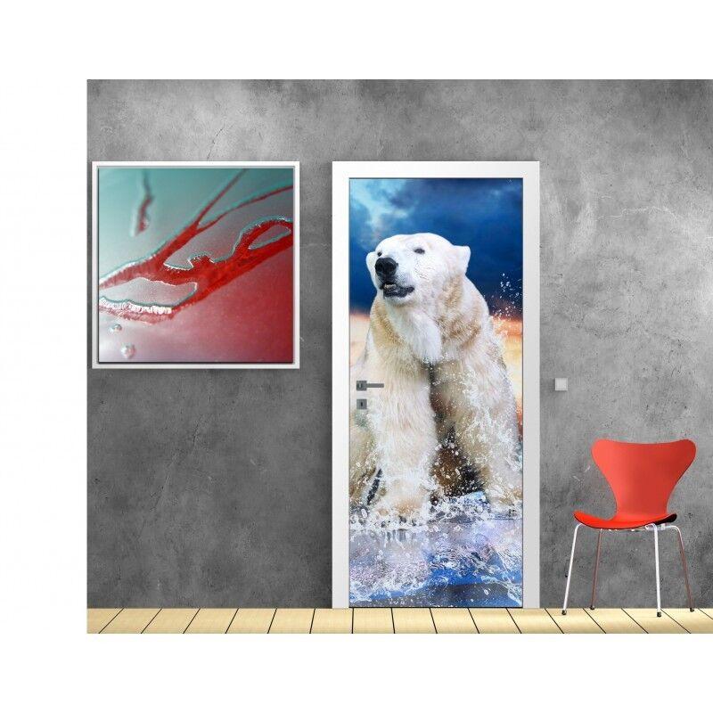 Cartel Póster para Puerta - Osos Polar 623 Arte Decoración Pegatinas