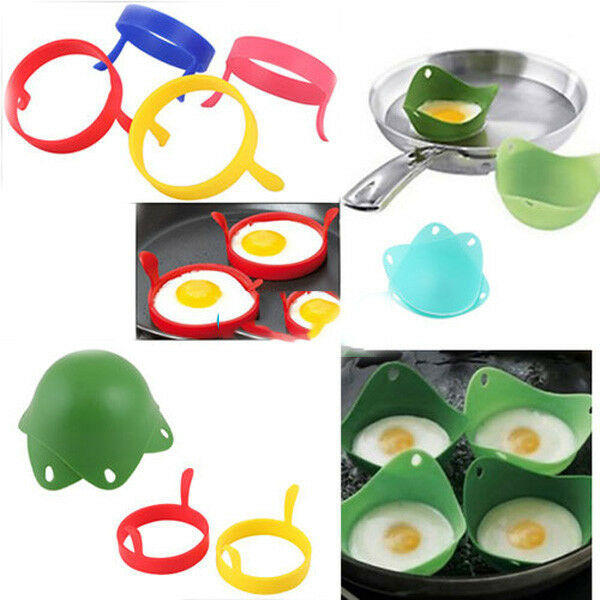 Utility 2X Kitchen Silicone Fried Fry Frier Oven Pancake Egg Poach Mould MOUS