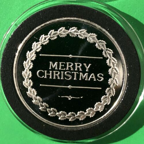 Santa's Workshop Toy Shop Holiday Coin 1 Troy Oz .999 Fine Silver Ag Proof Round