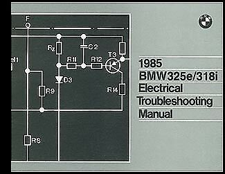 1985 Bmw 325e 318i Electrical Troubleshooting Manual Wiring Diagrams 325 E 318 I Ebay