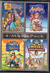 Secret-of-the-Hunchback-Secret-of-Anastasia-Secret-of-Mulan-Moses-DVD-4-Movie-pk
