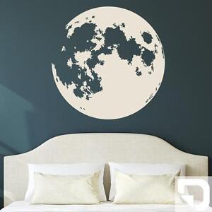Wandtattoo Vollmond Mond Nachthimmel Schlafzimmer Designscape Ebay