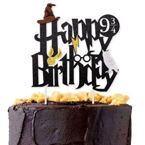Amazing Harry Potter Happy Birthday Cake Topper Bunting Party Decoration Funny Birthday Cards Online Necthendildamsfinfo