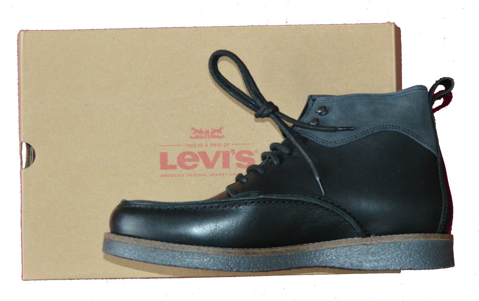 BNIB LEVI'S BLACK WORKING Stiefel ORIGINAL Größe 7.5,10. 10.5 GUARANTEED ORIGINAL Stiefel 232c2e