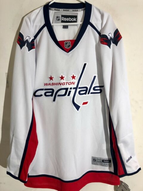 f5f212de8 Reebok Premier NHL Jersey Washington Capitals Team White Sz M