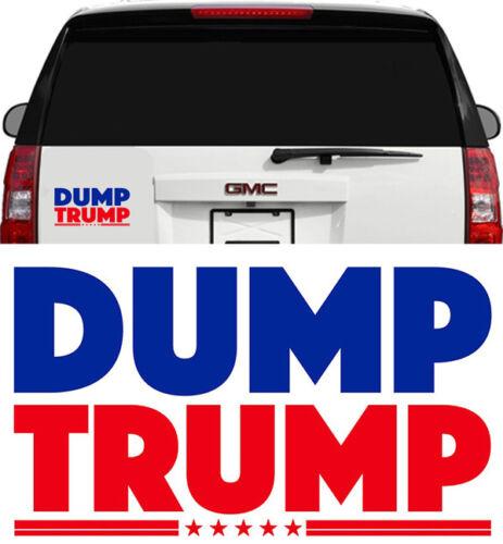 ANTI TRUMP DUMP TRUMP WINDOW CAR MIRROR DECAL STICKER RESIST 6 inch