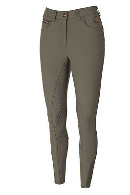 * Vendita * Pikeur Premium Notoriamente Completa Aderenza Donna Pantaloni-mud Uk14 & Uk18-