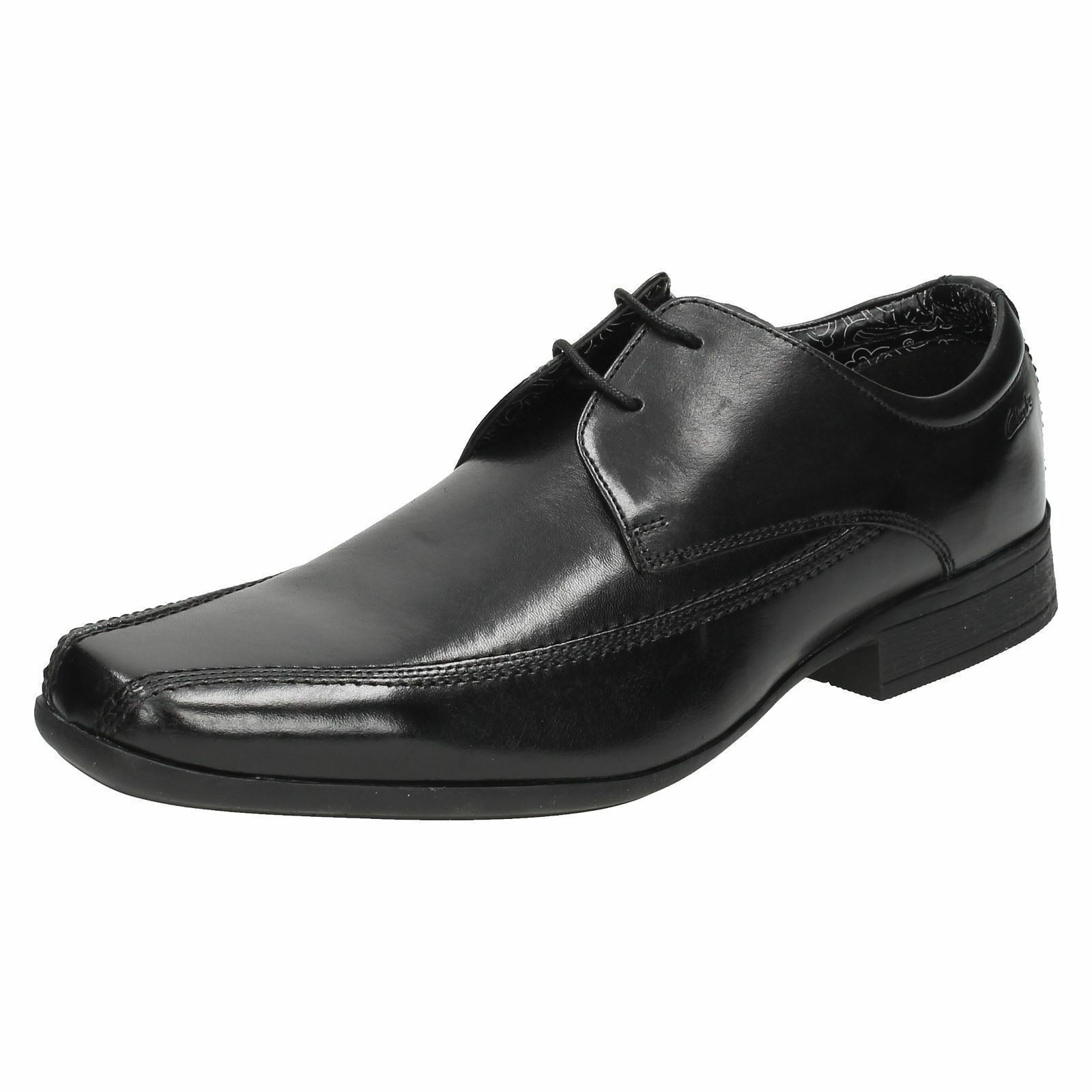 Herren BLACK LEATHER  LACE UP BY CLARKS BAZE DAY G FITTING