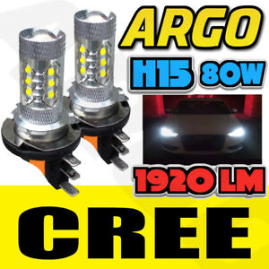 H15-White-Car-Cree-Led-Bulbs-80w-Drl-Daytime-Running-Lights-Dual-Filament-Canbus