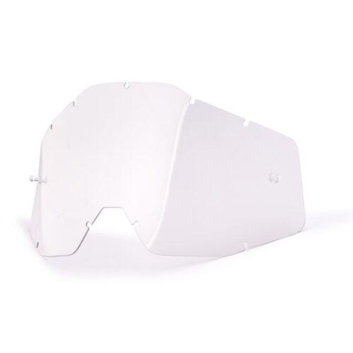 100/% ACCURI RACECRAFT chiara chiaro vetro di ricambio VISIERA DI RICAMBIO VETRO PARABREZZA