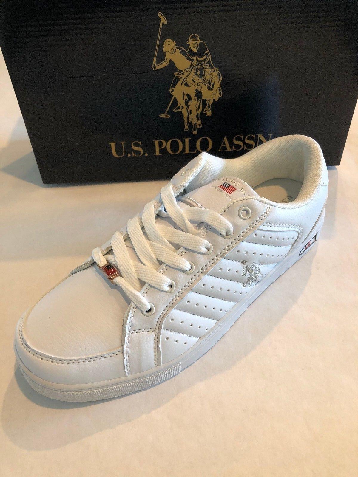 5dc346b7fe1b US Polo Time X X X 217067 18W Man Shoes White Silver 4e5988 - buckle ...