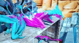 Details about Ark Survival Evolved Xbox One PVE 165 Cotton Candy Ice Wyvern  Clone- New Servers