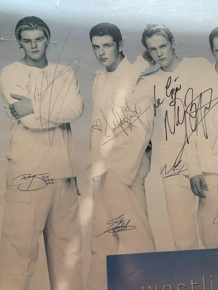 Autografer, Westlife plakat med autografer