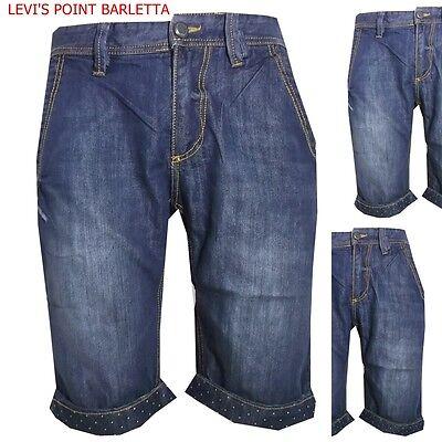 Sincero Bermuda In Di Jeans Pantaloncini Corti Da Uomo Shorts Denim Slim 42 48 50 54 56 Senza Ritorno