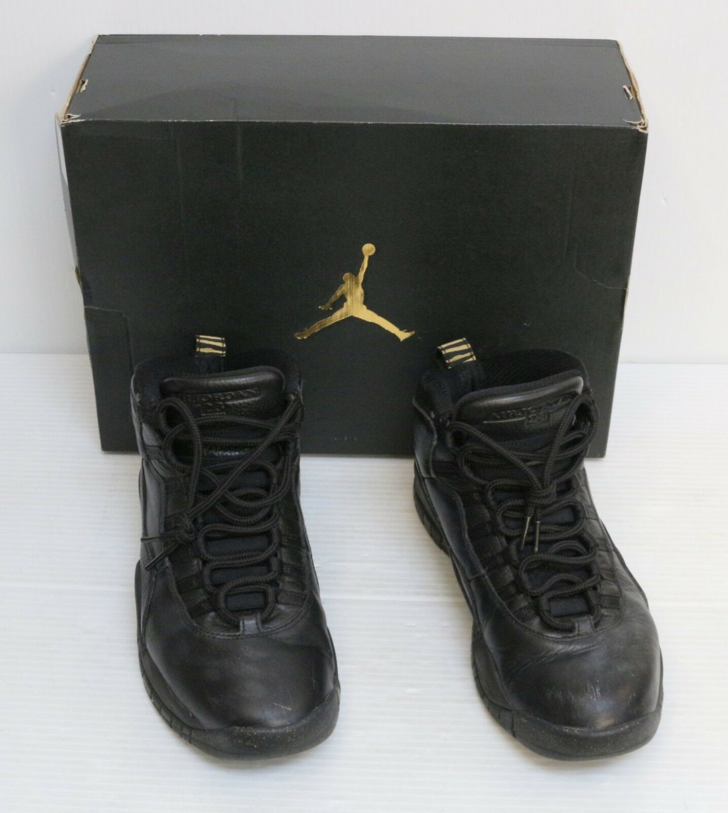 Nike Air Air Air Jordan 10 Retro NYC 310805-012 Black Size 9.5 City Pack DB Steel NYC 19b372