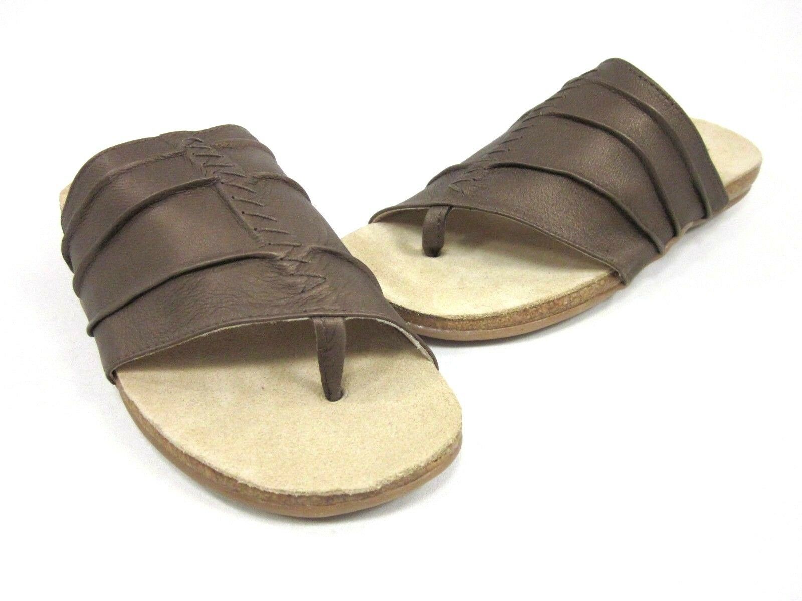 HAFLINGER WOMEN'S RENEE THONG SANDAL, BRONZE, 36 EU 10 US, MEDIUM, NEW W O BOX