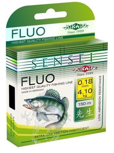 Monofiele Schnur SENSEI FLUO Gelb 150 m Spule 0,24mm-0,30mm Geflochten im Shop
