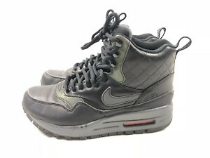 the latest f32af 21251 Image is loading Nike-Women-s-Black-Air-Max-1-Mid-