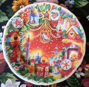 Assiette Dessert Gien Decor Noel Joyeuses Fetes Happy Christmas 2012