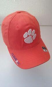 fa13a8aa0c3 Clemson Tigers Flex Fit Cap Orange White New NCAA ACC adidas paw ...